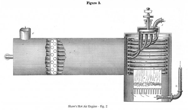 Shaw's 1854 Hot Air Engine - Fig. 2