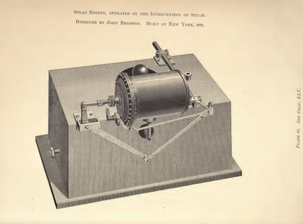 Ericsson's Solar Steam Engine