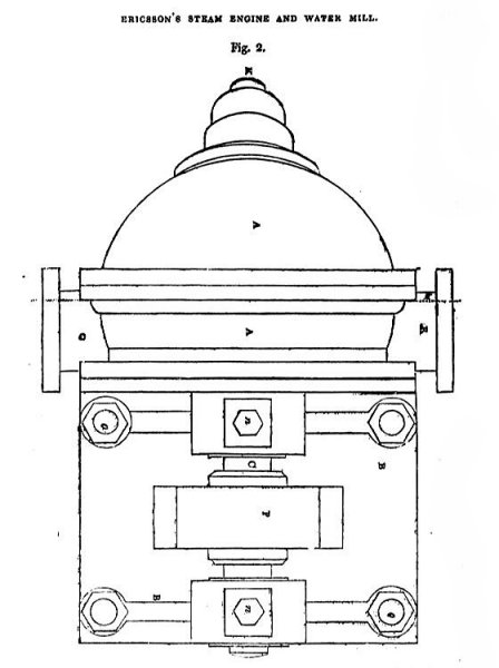 Ericsson's Steam and Water Wheel Engine - Fig. 2